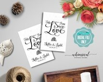 """S'More Love Favor Tag """"Swirly II"""" (Printable File Only) S'More Kit Wedding Favor Tag Marshmallow Chocolate Graham Cracker Guest Gift Thank"""
