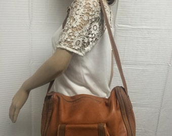 Carla Marchi, Italy, leather purse,bag, brown leather, shoulder bag