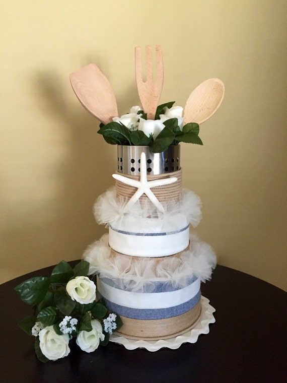 Kitchen Cake - Nautical - Bridal Shower - Gift for Mom - Mothers Day ...