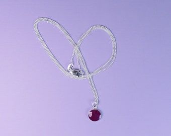 NEW! Necklace, Luscious Plum, Handmade Resin Jewelry, Accessories, Gifts