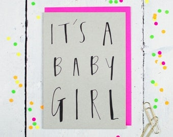 It's A Baby Girl Greetings Card