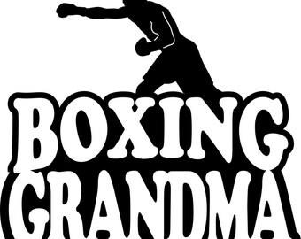 Boxing Grandma Hoodie/ Boxing Grandma Sweatshirt/ Boxing Grandma Clothing/ Boxing Grandma Gift/ Boxing/ Boxing Grandma Hoodie Sweatshirt
