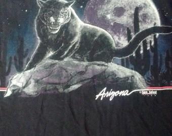 Vintage 90s Arizona Desert Cougar Mountain Lion T-shirt XL