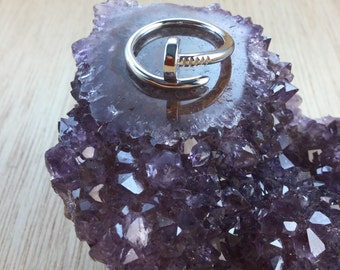 Sterling Silver Nail Ring Adjustable