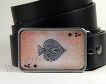Ace of Spades Belt Buckle Mens Belts Womens Belts Boyfriend Gift Playing Cards Fathers Day Gift Mens Belt Buckle Womens Belt Buckle