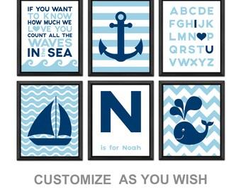 personalized nautical nursery wall decor nautical kids decor nautical baby room decor count the waves nautical theme nursery sailor nursery