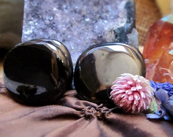 Black Onyx Reiki Infused Healing Crystals And Stones, Black Onyx Palm Stone