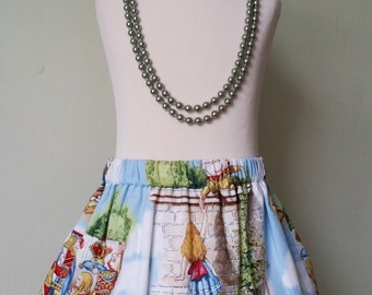 Alice in wonderland, girls skirt, READY TO POST, 18-24 months, girls clothing, kids clothing, uk