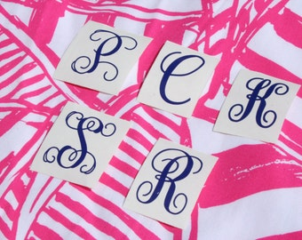 Single Letter Monogram Decal | Personalized Initial Decal | Cup Decal | DIY Vinyl Decal
