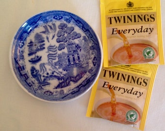 Small Blue Willow Plate