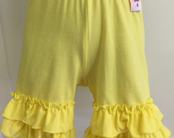 SALE** Yellow Ruffle Shorties