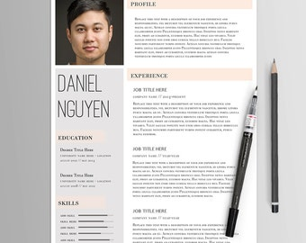 Resume Template No. 9 // Creative CV & Cover Letter // Modern Professional Resume // MS Word