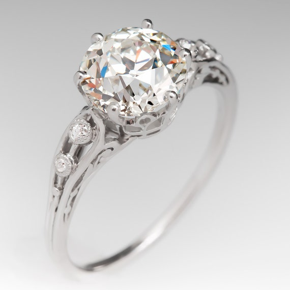 Antique Engagement Ring 1920 s Engagement Ring with 2 by EraGem