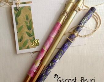 Decorative Pencil Set & Cards - Desk Set - Personalised Pencils - Mother's Day Gift - Birthday Gift - Bridge Pencils - Australian Seller
