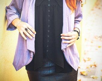 Vintage lilac blouse/blazer