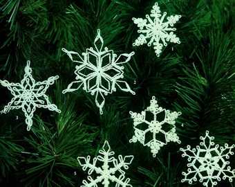 Crochet Snowflake Ornaments Vintage Crochet Pattern Download