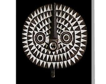 African Art Greeting Card 4x6 or 5x7.5 - Blank Inside / Bobo Bwa Sun Mask / Orig Fine Art Photography