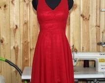 2016 V-neck Red Bridesmaid dress, Wedding Party dress, Formal dress, Prom Dress,Woman Evening dress Knee length(G482501)