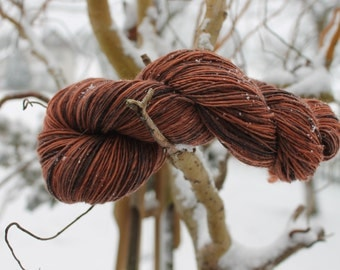 Earthenware - handspun and handdyed merino superwash yarn