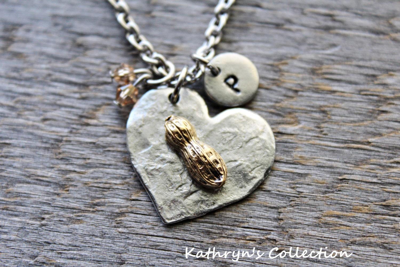 peanut necklace peanut necklace peanut jewelry