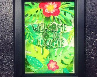 "Quilled Paper Art: ""Welcome To The Jungle"""