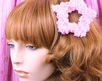 Sweet Lolita Hair Accessory-Fairy Kei Accessory-Alligator Clip-Women's Hair Accessory-kawaii accessory-Lolita head accessory-Pink hair clip
