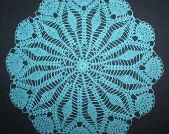 Blue Crochet Doily Round Doily