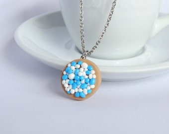 Beschuit met muisjes necklace blue baby boy pregnant babyshower gift Dutch custom