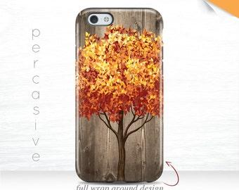 Fall Tree iPhone 7 Case Autumn iPhone 6 Case Wood PRINT iPhone 6 Plus Case 3D, iPhone 5s Case Orange Leaves iPhone 6S Case Fall 11s