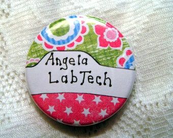 Custom made ID badge holder for lab tech,pink,green and blue badge holder for lab tech,will make one for your profession