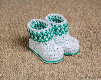 Cotton Crochet Booties
