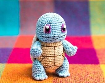 "Crochet Pattern of Squirtle from ""Pokemon"" (Amigurumi tutorial PDF file)"