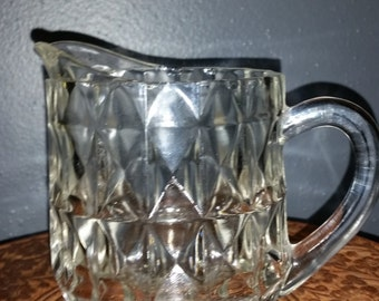 1960's Pressed Glass Pint Pitcher