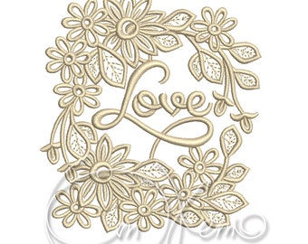 MACHINE EMBROIDERY FILE - Love