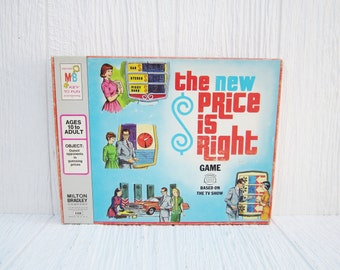 The New Price is Right Board Game, 1973 Milton Bradley Game, Vintage Cards, Game Pieces, Paper Ephemera