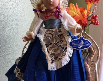 Composition Dutch Doll — Dream World Doll—Antique 1940's—Good Condition