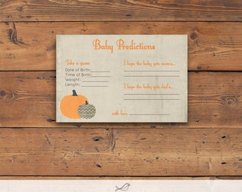 Instant Download Pumpkin Baby Predictions