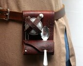 "The ""Teacup Companion"" Holster---For Teaspoon, Infuser, and Tea Bag/Leaves"