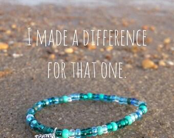 Starfish Bracelet / Difference Bracelet / You make a difference Bracelet / Beachy Bracelet