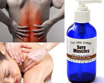 Sore Muscles Massage Oil, Massage Oil, Achy Muscles Massage Oil, Aches and Pains, Aches & Pains,