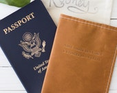 More Knots In My Hair Quote Leather Passport Travel Cover Brown Leather in Collaboration With Taylor Tippett