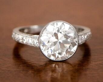 Antique 3.53 Carat Engagement Ring. Circa 1920