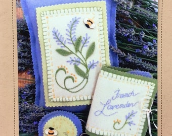 French Lavender Pin Cushions Kit