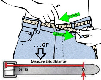 Belt Sizing Chart - NOT FOR SALE