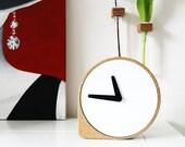 Clork / Cork Steel / Dutch Design Clock by ILIASERNST / Puik Art
