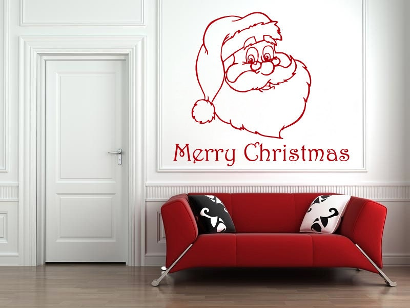 Merry Christmas Quote Wall Art Decal: Wall Decals Merry Christmas 2016 Santa Claus Decal Vinyl