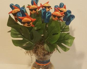 Sunny Flip Flops Clay Bouquet