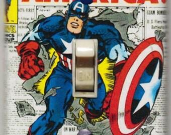 Captain America Light Switch Cover Plate - Captain America 109