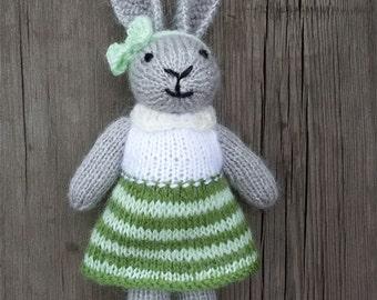 inspirational women gift -mature Stuffed animal Easter Bunny rabbit toy Mom Gift for mother Baby girl Nursery decor Girlfriend-gift kid gift