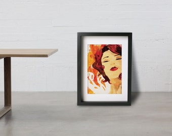 RED poster - Inspired by TRANSISTOR  Fine art Giclée print.